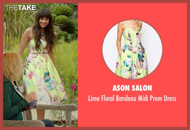 Ason Salon yellow dress from The Good Place seen with Tahani Al-Jamil (Jameela Jamil)