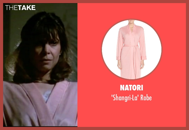 Natori pink robe from Rocky IV seen with Talia Shire (Adrian)
