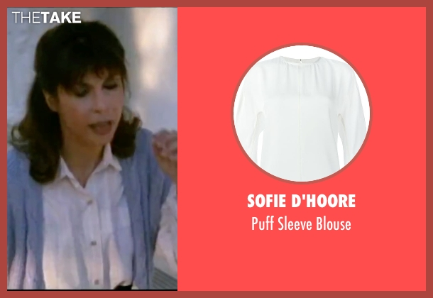 Sofie D'hoore white blouse from Rocky IV seen with Talia Shire (Adrian)