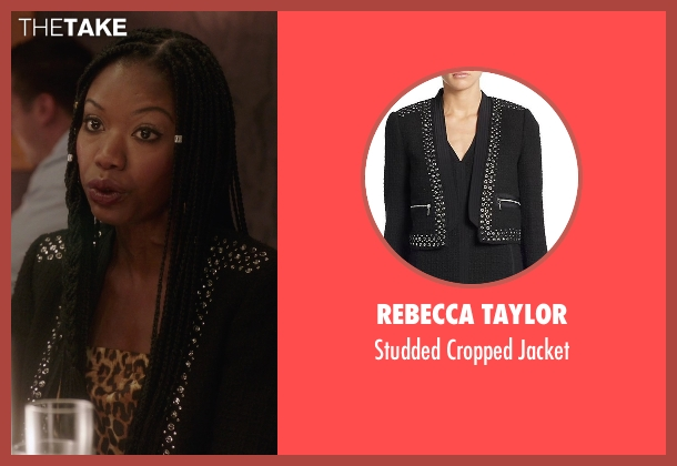 Rebecca Taylor black jacket from The Mindy Project seen with Tamra  (Xosha Roquemore)