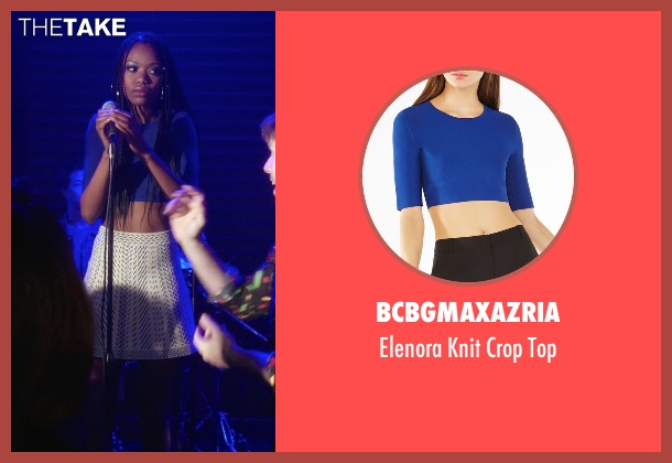 BCBGmaxazria blue top from The Mindy Project seen with Tamra Webb (Xosha Roquemore)
