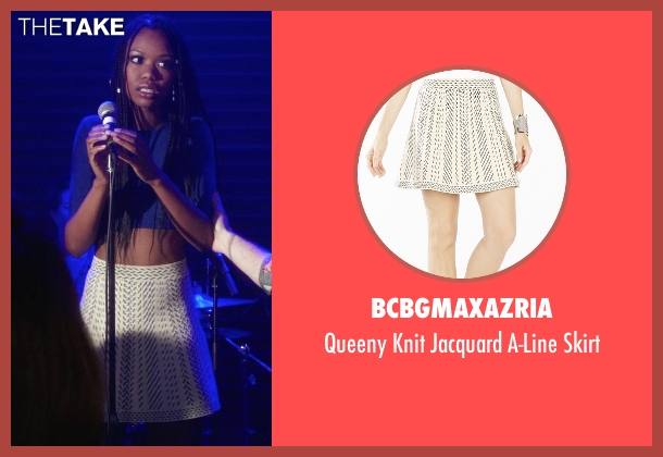 BCBGmaxazria white skirt from The Mindy Project seen with Tamra Webb (Xosha Roquemore)
