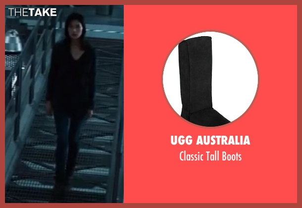 UGG Australia black boots from The Wolverine seen with Tao Okamoto (Mariko)