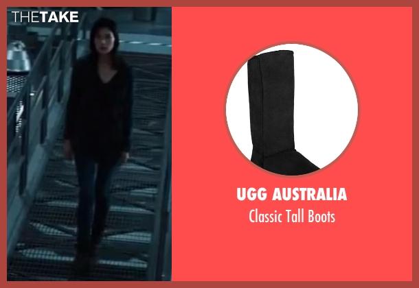 UGG Australia black boots from The Wolverine seen with Tao Okamoto (Mariko)