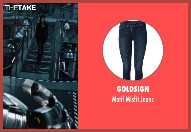 Goldsign blue jeans from The Wolverine seen with Tao Okamoto (Mariko)