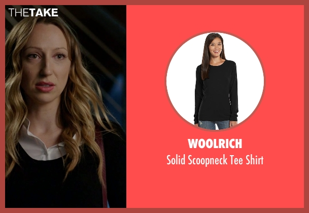 Woolrich black shirt from Rosewood seen with Tara Milly Izikoff (Anna Konkle)
