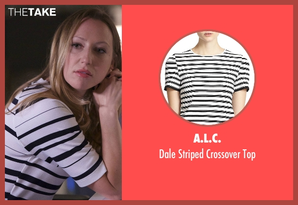 A.L.C. white top from Rosewood seen with Tara Milly Izikoff (Anna Konkle)