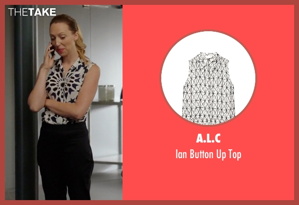 A.L.C white top from Rosewood seen with Tara Milly Izikoff (Anna Konkle)