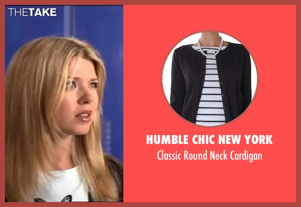Humble Chic New York black cardigan from American Pie seen with Tara Reid (Victoria 'Vicky' Lathum)