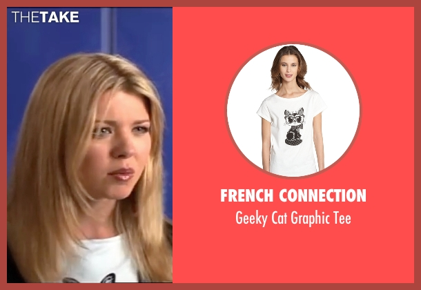 French Connection black tee from American Pie seen with Tara Reid (Victoria 'Vicky' Lathum)