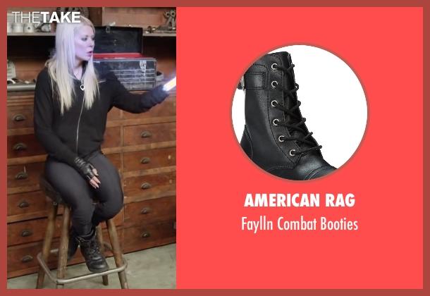 American Rag black booties from Sharknado 4: The Fourth Awakens seen with Tara Reid (April Shepard)