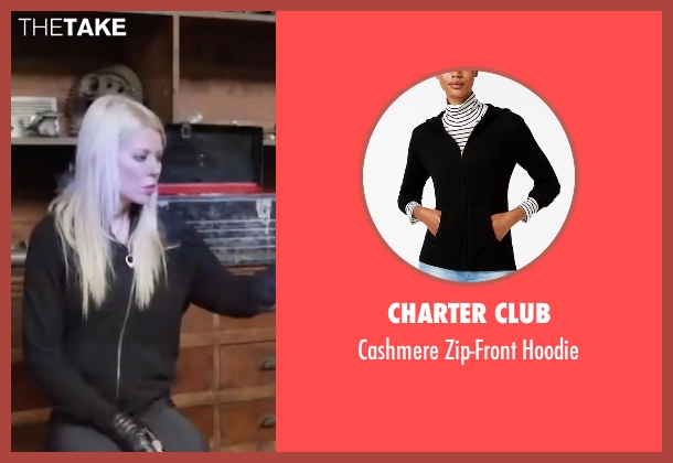 Charter Club black hoodie from Sharknado 4: The Fourth Awakens seen with Tara Reid (April Shepard)