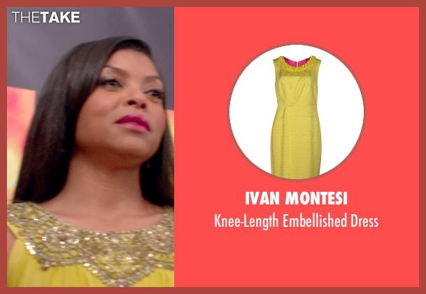 Ivan Montesi yellow dress from Top Five seen with Taraji P. Henson