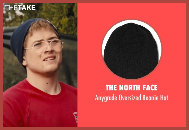 The North Face black hat from Eddie The Eagle seen with Taron Egerton (Eddie Edwards)