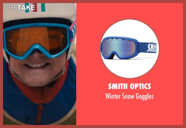 Smith Optics blue goggles from Eddie The Eagle seen with Taron Egerton (Eddie Edwards)