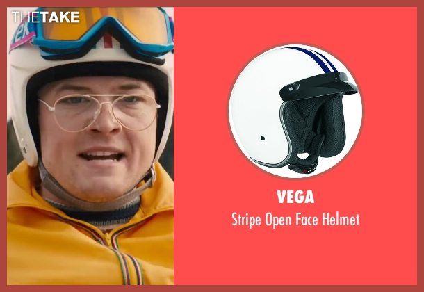 Vega helmet from Eddie The Eagle seen with Taron Egerton (Eddie Edwards)