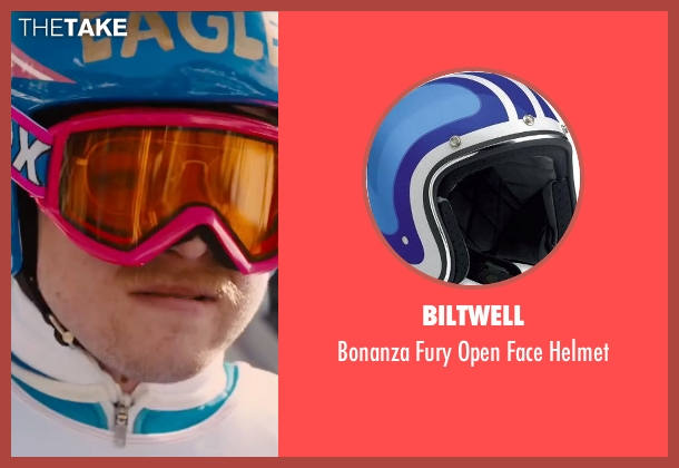Biltwell helmet from Eddie The Eagle seen with Taron Egerton (Eddie Edwards)