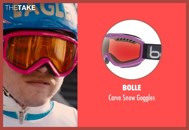 Bolle pink goggles from Eddie The Eagle seen with Taron Egerton (Eddie Edwards)
