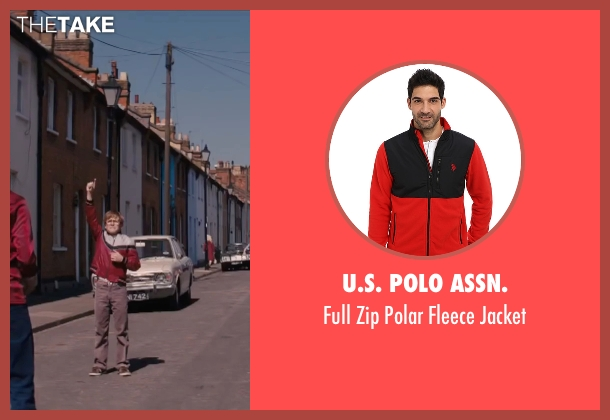 U.S. Polo Assn. red jacket from Eddie The Eagle seen with Taron Egerton (Eddie Edwards)