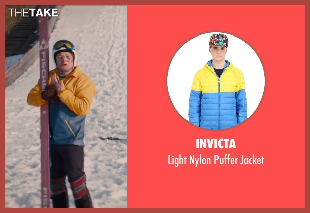 Invicta yellow jacket from Eddie The Eagle seen with Taron Egerton (Eddie Edwards)