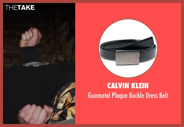 Calvin Klein black belt from Kingsman: The Secret Service seen with Taron Egerton (Eggsy)