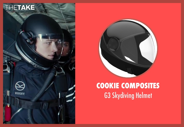 Cookie Composites black helmet from Kingsman: The Secret Service seen with Taron Egerton (Eggsy)