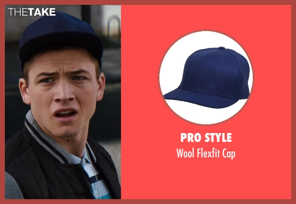 Pro Style blue cap from Kingsman: The Secret Service seen with Taron Egerton (Eggsy)