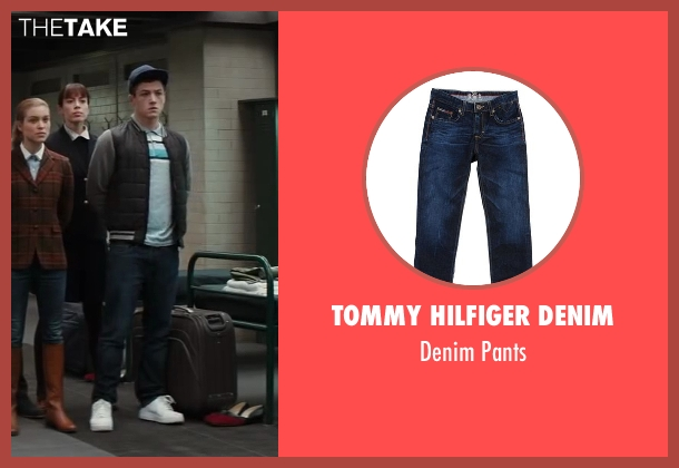 Tommy Hilfiger Denim blue pants from Kingsman: The Secret Service seen with Taron Egerton (Gary 'Eggsy' Unwin)