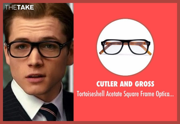Cutler And Gross glasses from Kingsman: The Secret Service seen with Taron Egerton (Eggsy)