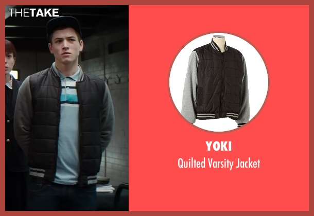 Taron Egerton Yoki Quilted Varsity Jacket From Kingsman