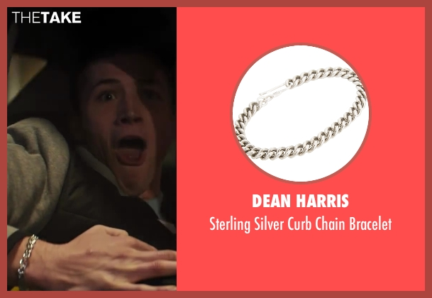 Dean Harris silver bracelet from Kingsman: The Secret Service seen with Taron Egerton (Gary 'Eggsy' Unwin)