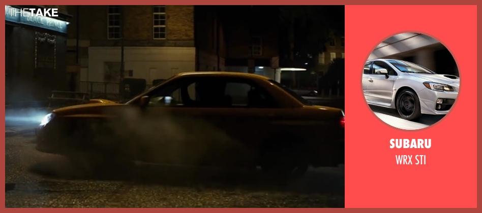 Subaru sti from Kingsman: The Secret Service seen with Taron Egerton (Gary 'Eggsy' Unwin)