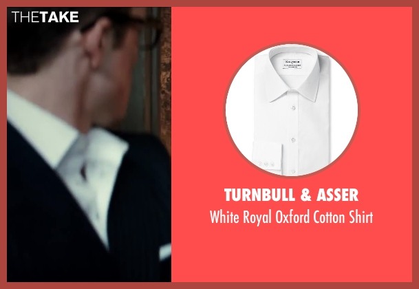 Turnbull & Asser white shirt from Kingsman: The Secret Service seen with Taron Egerton (Gary 'Eggsy' Unwin)