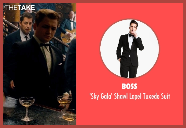 Boss black suit from Legend seen with Taron Egerton (Teddy Smith)