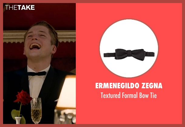 Ermenegildo Zegna black tie from Legend seen with Taron Egerton (Teddy Smith)