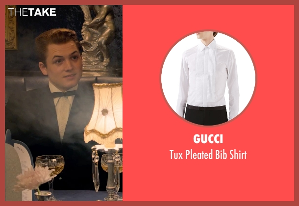 Gucci white shirt from Legend seen with Taron Egerton (Teddy Smith)