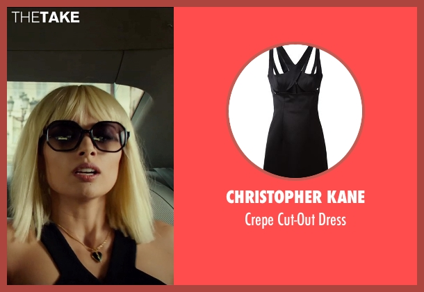 Christopher Kane black dress from The Transporter: Refueled seen with Tatiana Pajkovic (Maria)
