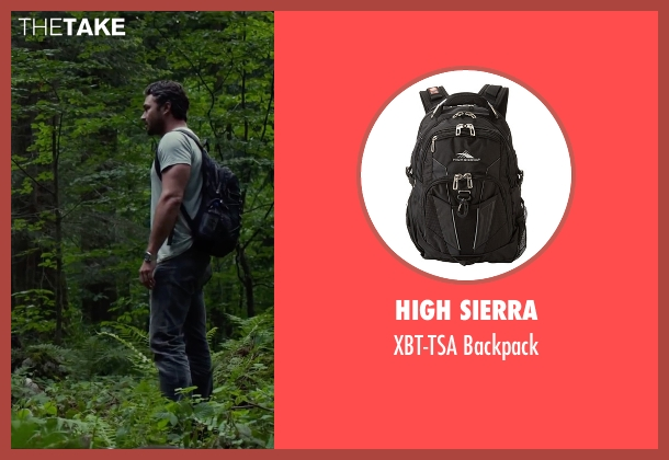 High Sierra black backpack from The Forest seen with Taylor Kinney (Aiden)