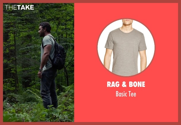 Rag & Bone gray tee from The Forest seen with Taylor Kinney (Aiden)