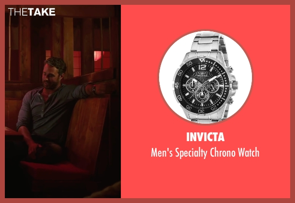 Invicta silver watch from The Forest seen with Taylor Kinney (Aiden)