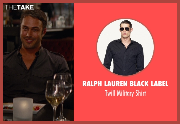 Ralph Lauren Black Label black shirt from The Other Woman seen with Taylor Kinney (Phil)