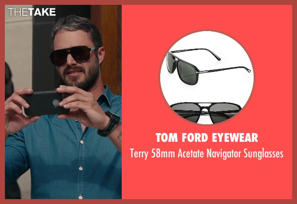 Tom Ford Eyewear black sunglasses from The Other Woman seen with Taylor Kinney (Phil)