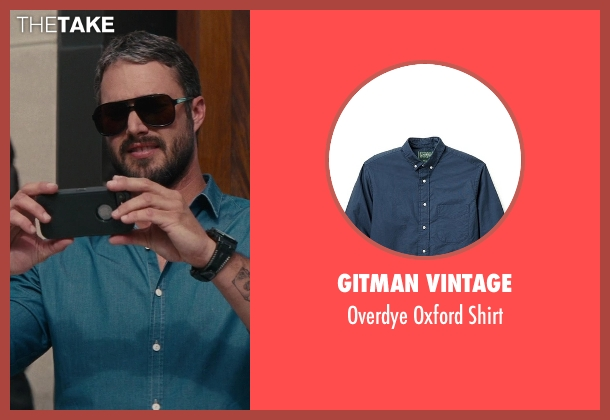 Gitman Vintage blue shirt from The Other Woman seen with Taylor Kinney (Phil)