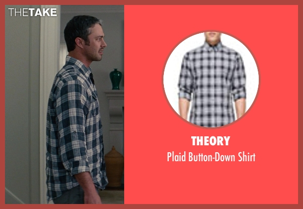 Theory blue shirt from The Other Woman seen with Taylor Kinney (Phil)