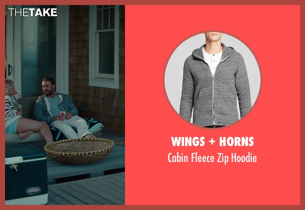 Wings + Horns gray hoodie from The Other Woman seen with Taylor Kinney (Phil)