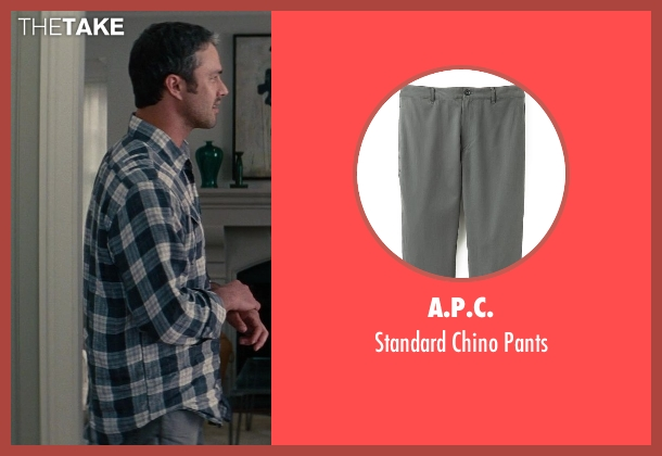 A.P.C. gray pants from The Other Woman seen with Taylor Kinney (Phil)