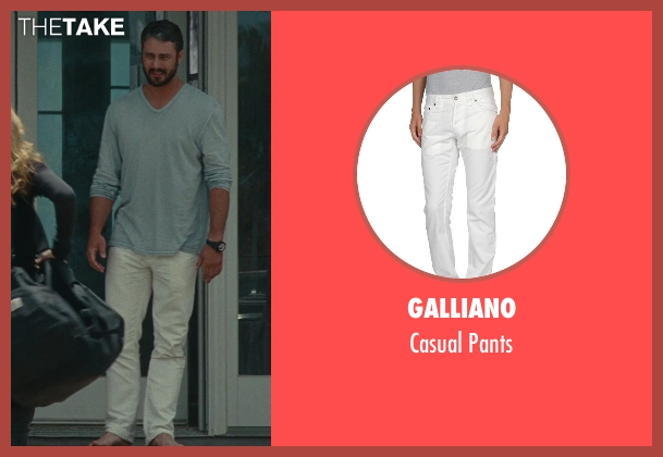 Galliano white pants from The Other Woman seen with Taylor Kinney (Phil)