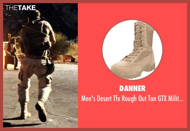 Danner beige boot from Savages seen with Taylor Kitsch (Chon)