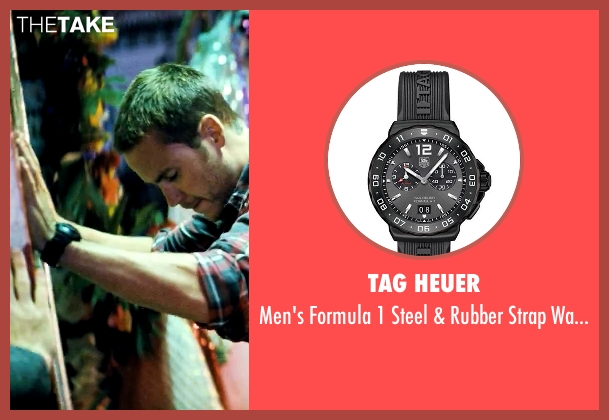 Tag Heuer black watch from Savages seen with Taylor Kitsch (Chon)