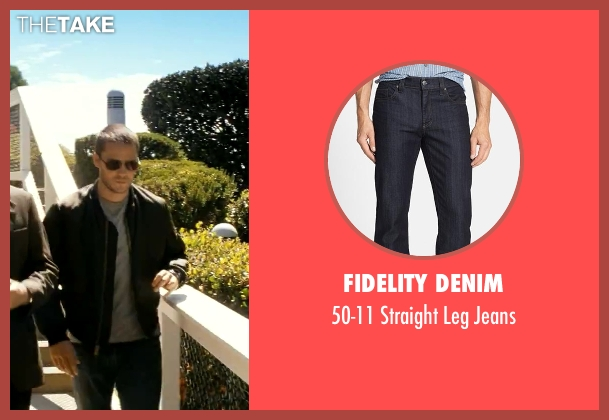 Fidelity Denim blue jeans from Savages seen with Taylor Kitsch (Chon)
